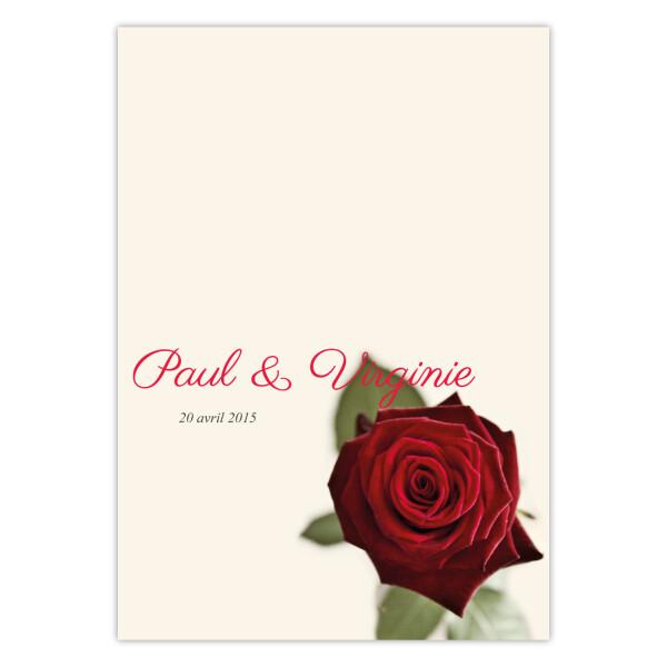 Faire-part Rose rouge A6