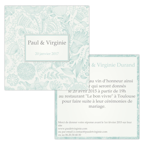Papeterie de Mariage Old fashion - Invitations